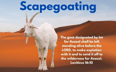 Scapegoating – understandable maybe, but unhelpful